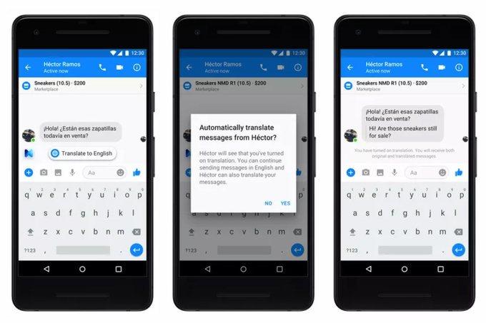 636fa12a9b3e6 Facebook начал тестировать автоматический перевод сообщений в Messenger