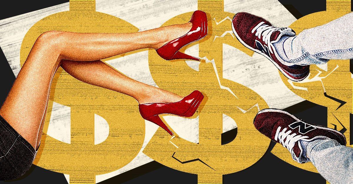 cb4a42ae1074 Американский бренд открыл магазин с фейковой дорогой обувью. Блогеры не  заметили разницы   Vector
