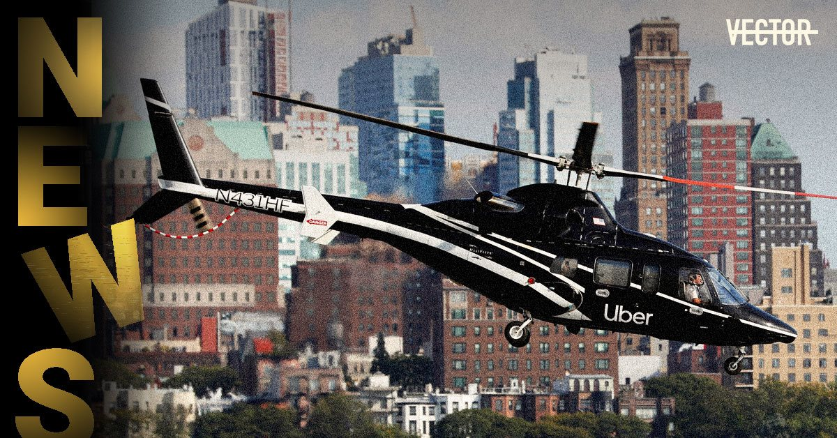 Uber запустил в США вертолетное такси. Дорога занимает столько же, как и на машине