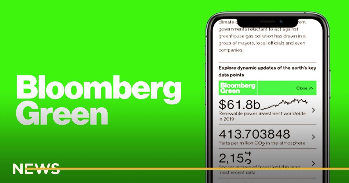Bloomberg запустила проект об экологии. Будут статьи, рассылка, подкаст, ивенты и печатный журнал