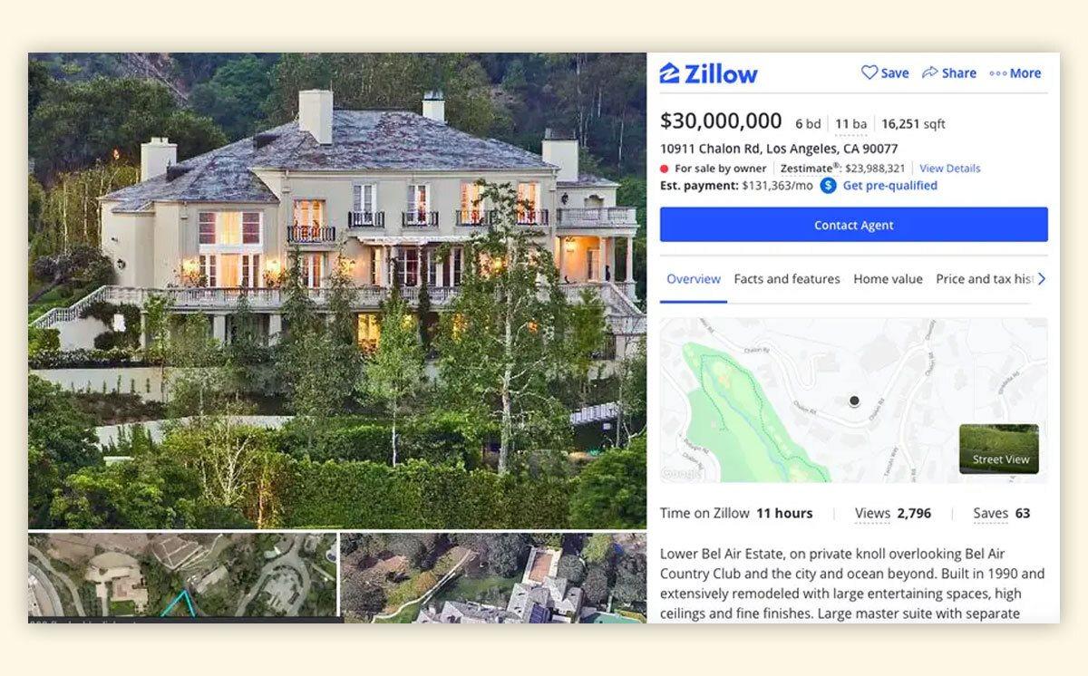 Илон Маск продает два дома в Лос-Анджелесе, но не из-за денег