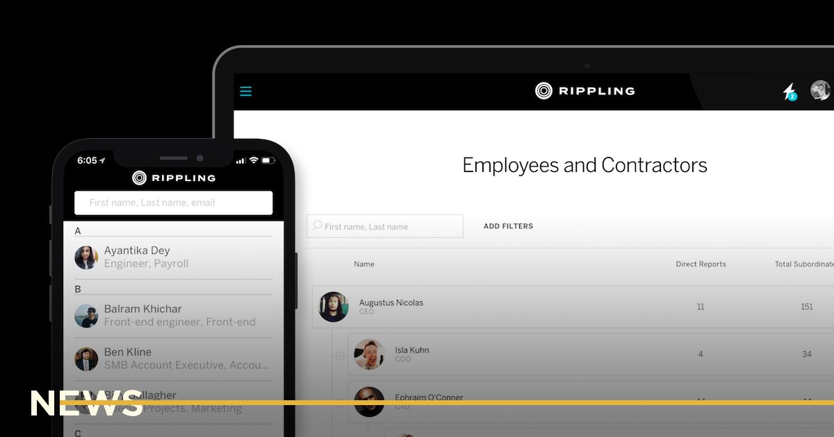 Американский стартап для управления сотрудниками Rippling привлек 5 млн и стал «единорогом»