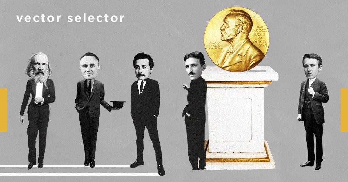 Vector Selector: 5 ученых, которые не получили Нобелевскую премию