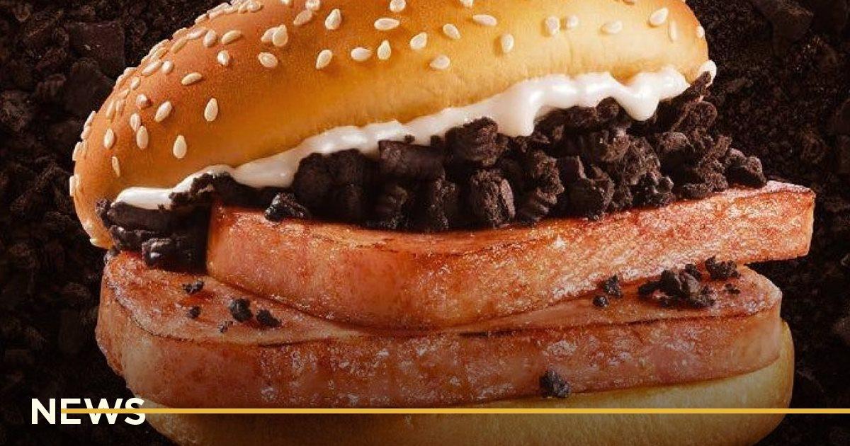 McDonald's выпустил бургер со свининой, майонезом и печеньем Oreo в Китае