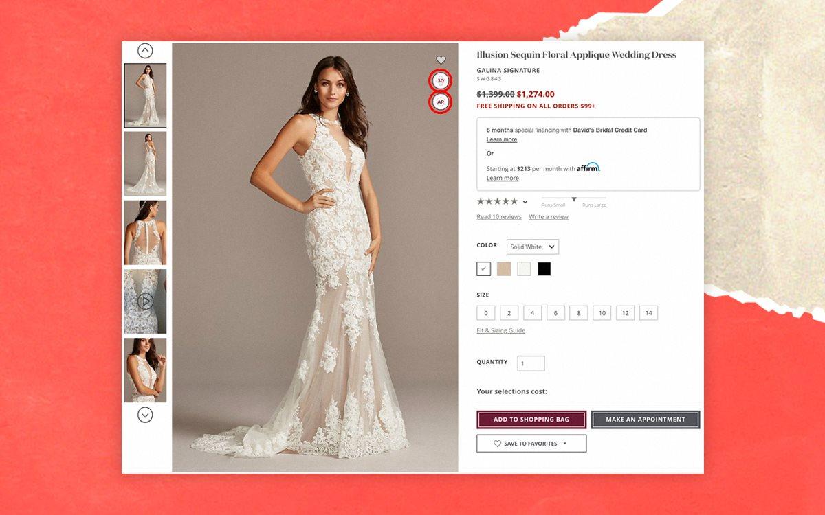 Свадебные платья в AR