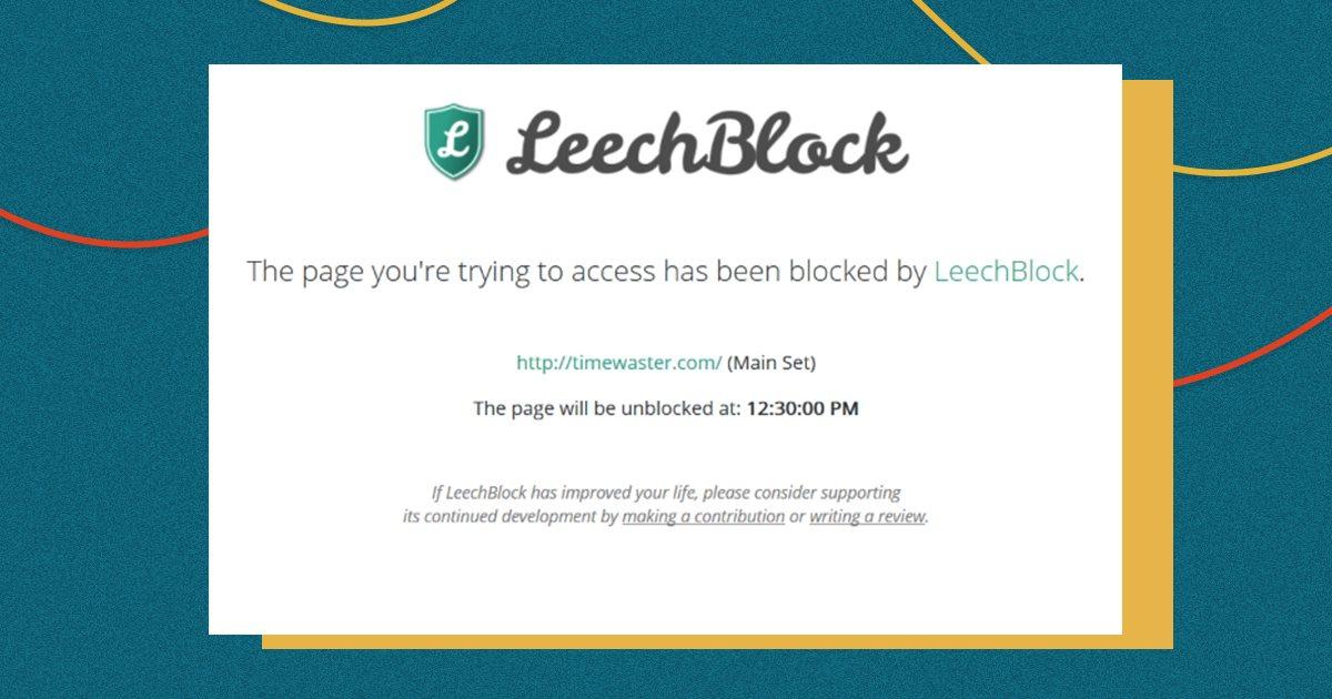 Приложение для концентрации внимания LeechBlock