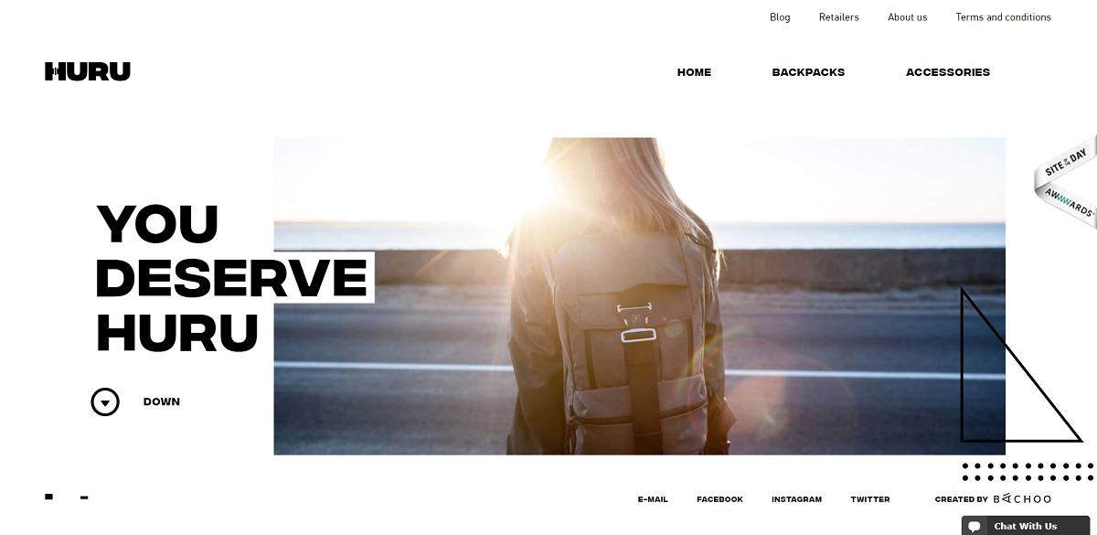 HURU backpack интернет-магазин