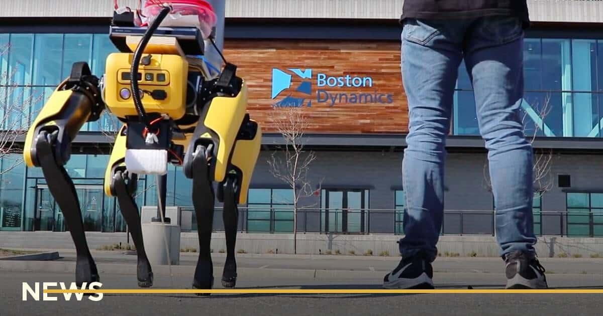 Робособаку Boston Dynamics научили мочиться пивом