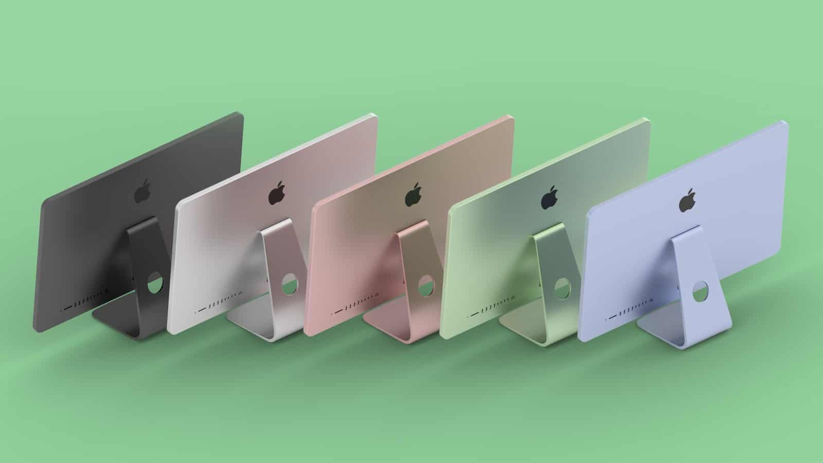 Модели iMac в разных цветах