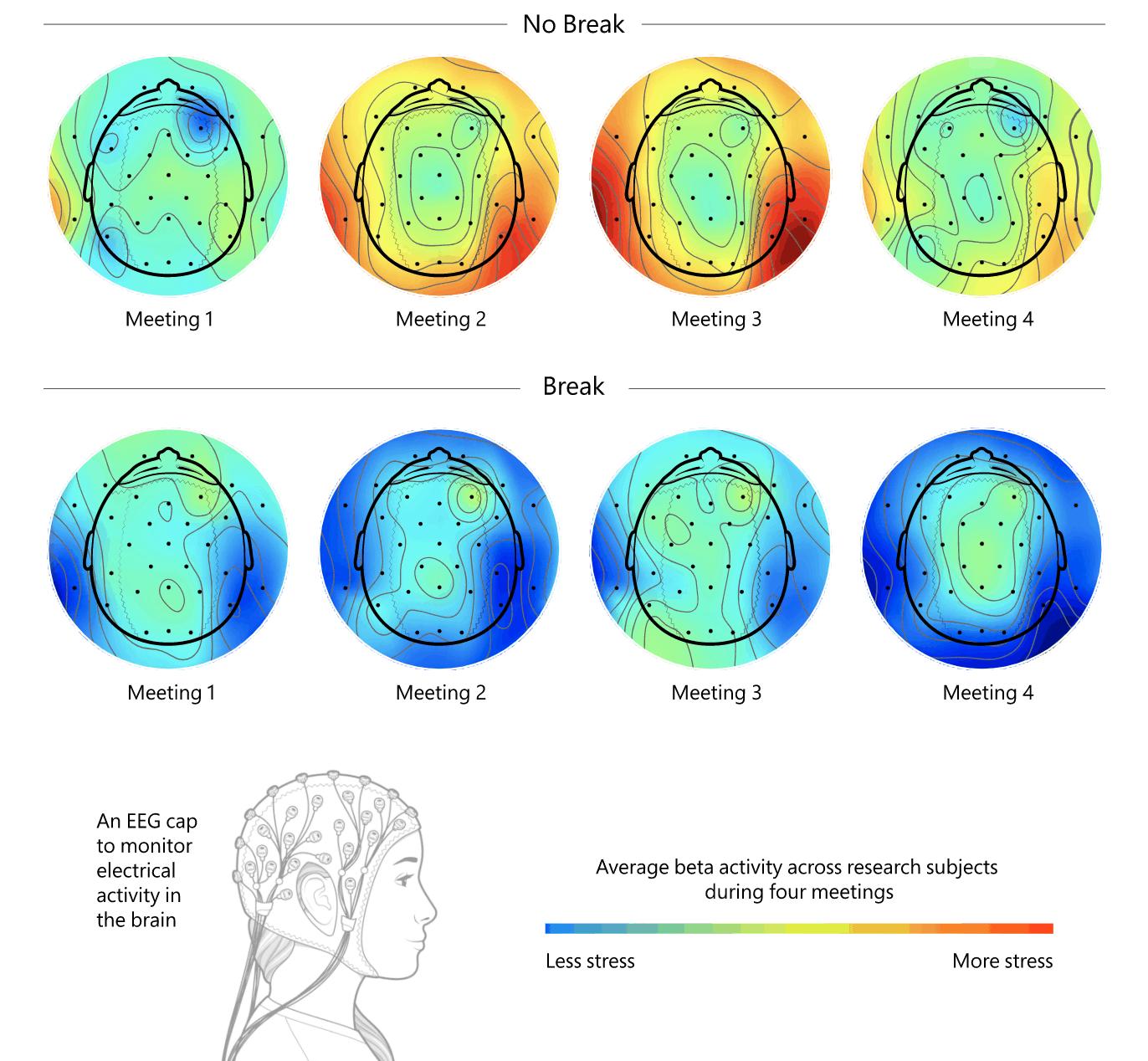 Как непрерывные встречи влияют на активность мозга
