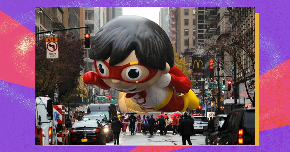 воздушный шар Райана на параде в честь Дня благодарения от Macy's