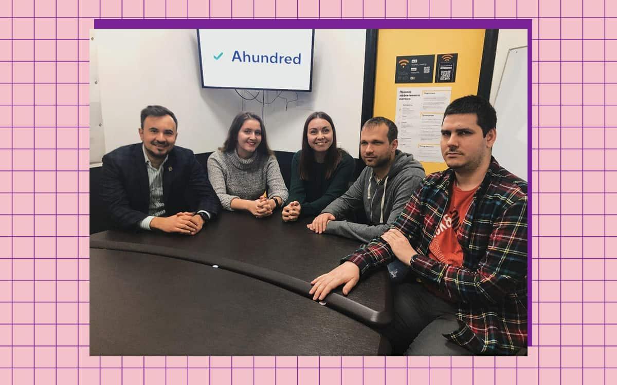 Команда стартапу Ahundred