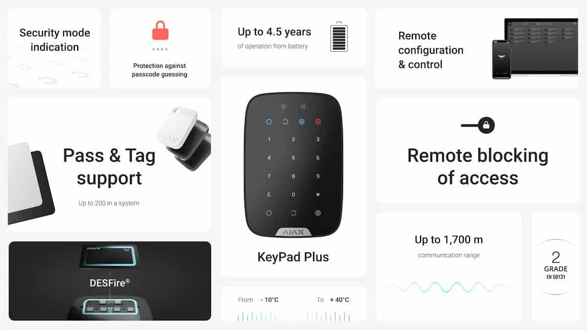 KeyPad Plus от Ajax