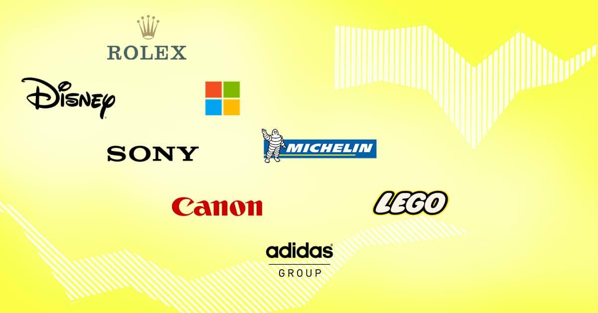 Лидеры в области КСО: Rolex, Lego, Disney, Adidas Group, Microsoft, Sony, Canon, Michelin