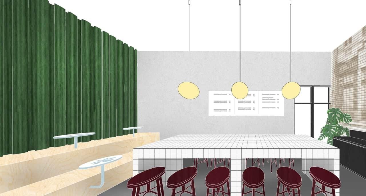 Эскиз дизайна офиса Promodo