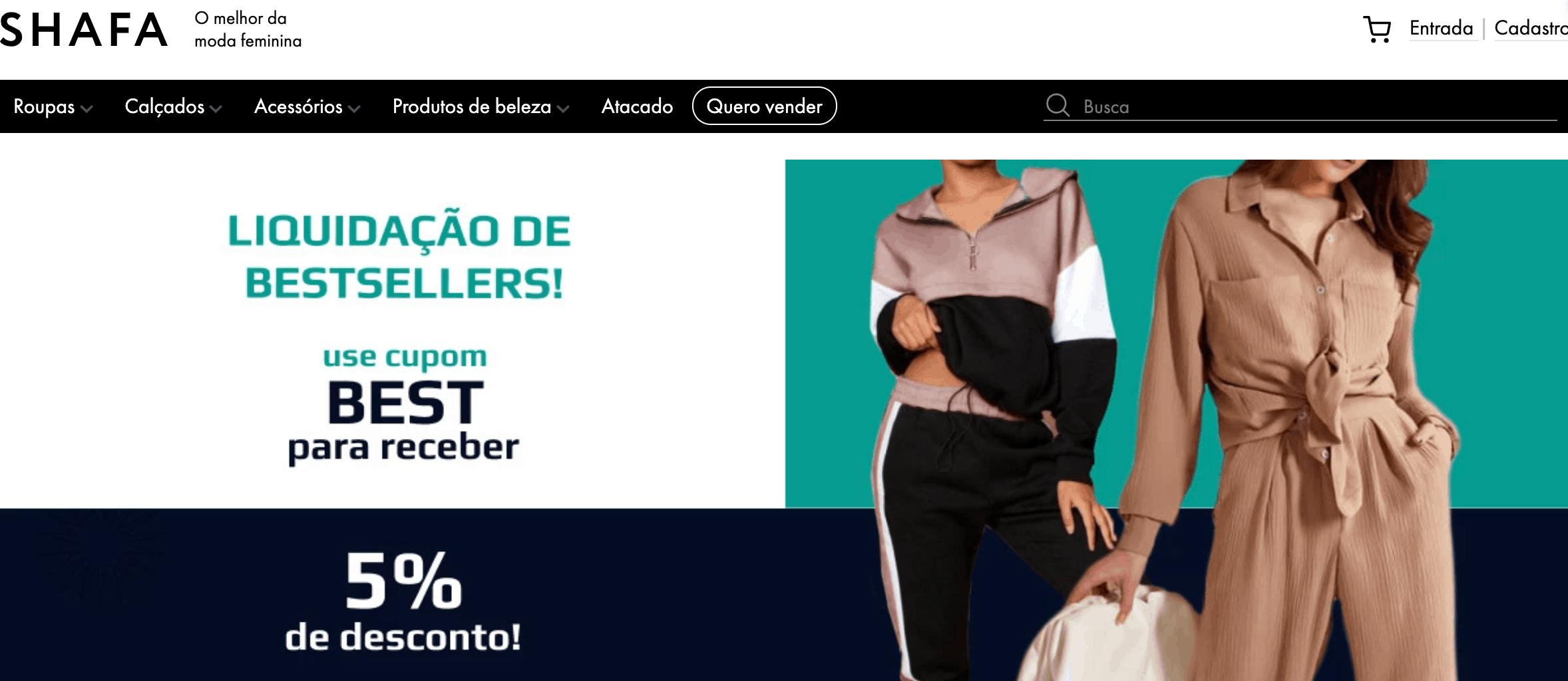 Интерфейс shafa.com.br