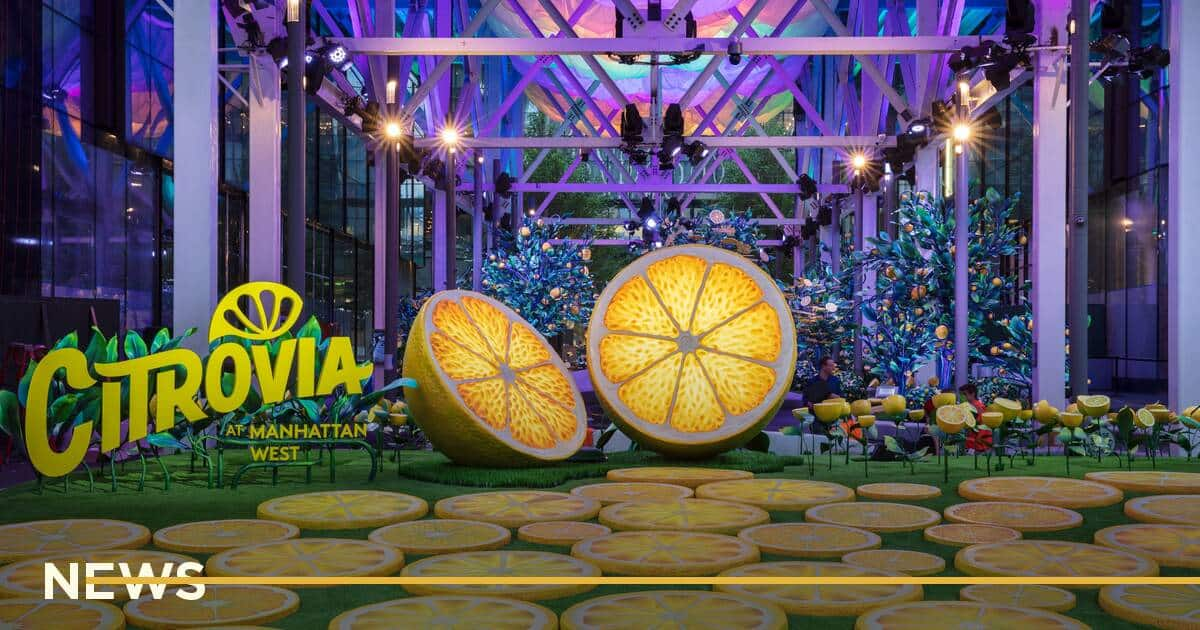 У Нью-Йорку будмайданчик замаскували під лимонний сад
