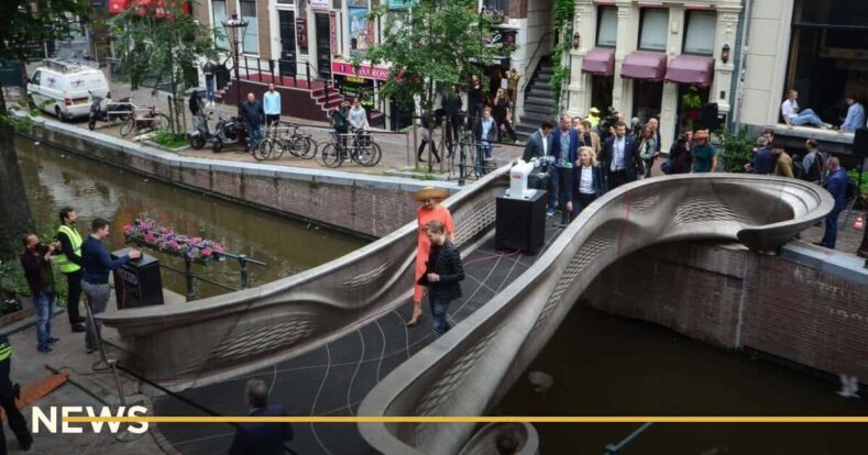 В Амстердамі з'явився перший сталевий 3D-міст