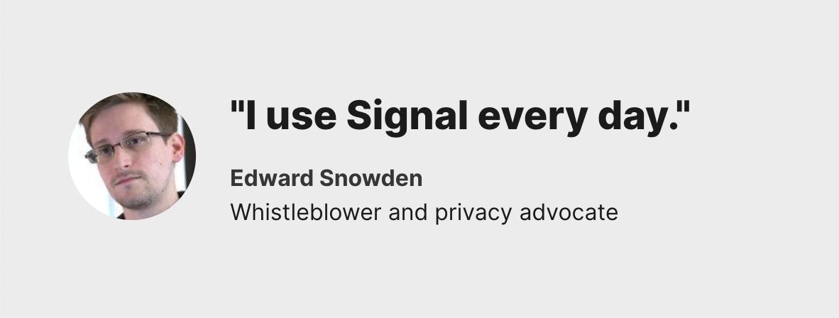 Эдвард Сноуден про Signal